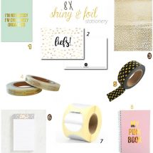 8 shiny & foil stationery