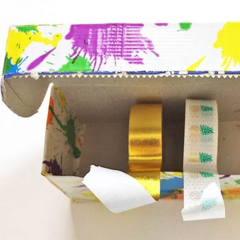 DIY masking tape dispenser