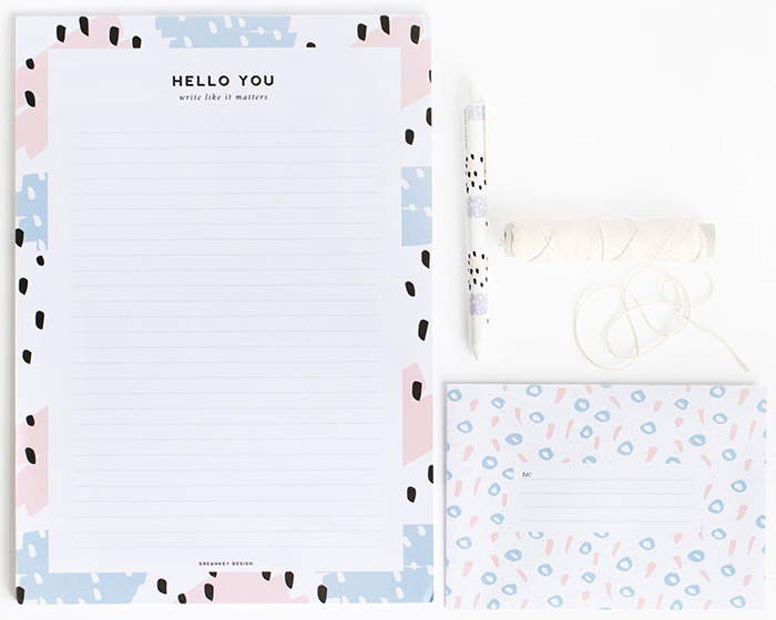 Dreamkey Design brush stationery