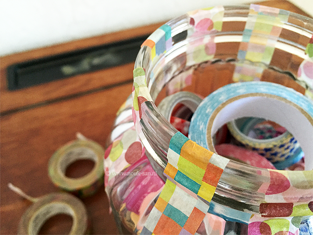 DIY masking tape pot
