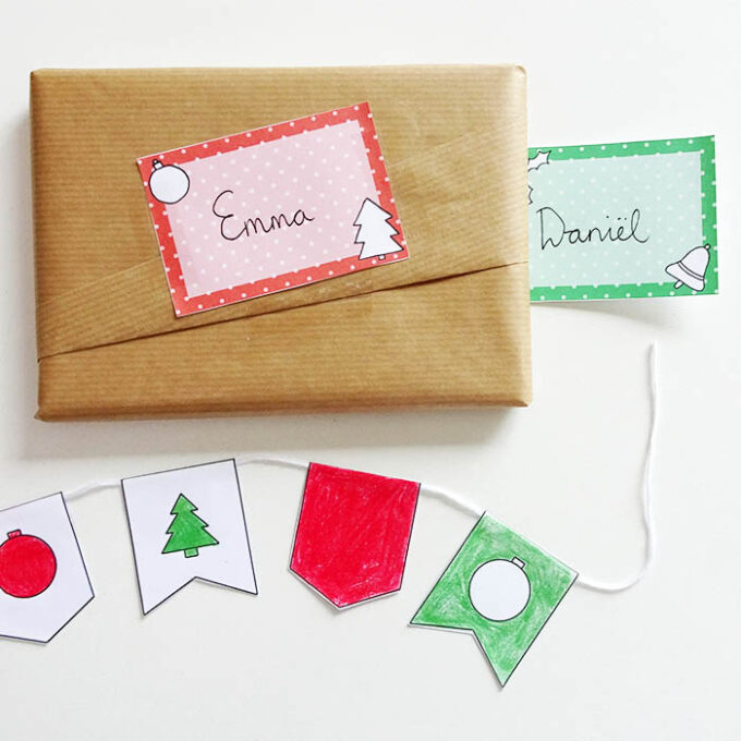 Printable DIY kerst labels 2