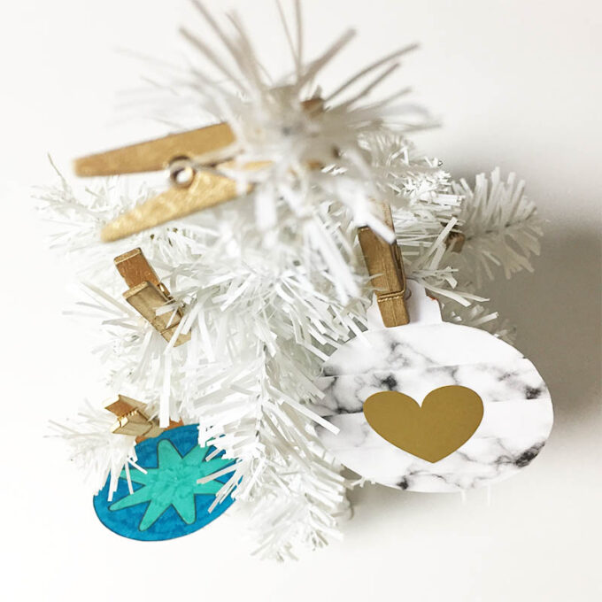 Printable DIY kerstmis ornamenten