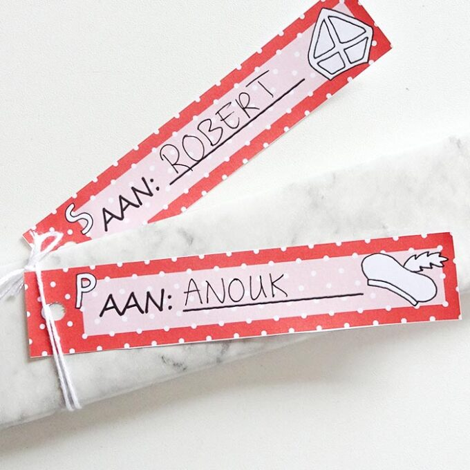Printable DIY sinterklaas labels