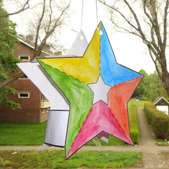Printable DIY sterren lampion