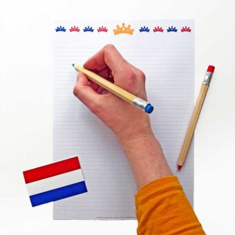 Printable briefpapier koningsdag