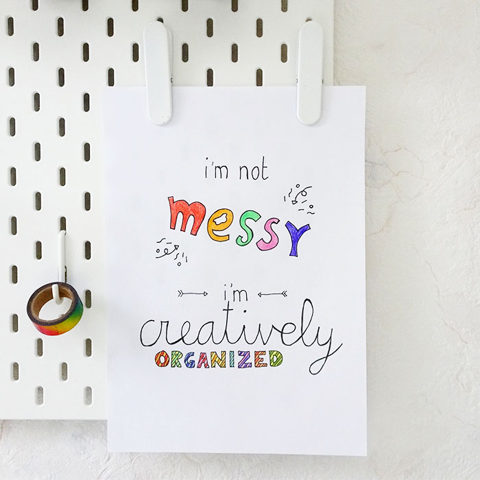 Printable print Creatively Organized