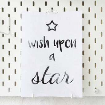Printable print Wish Upon A Star