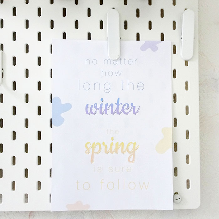 Printable print winter & spring