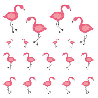 Stickers Flamingo van Nouk-san