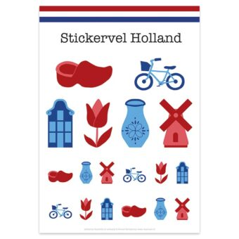 Stickervel Holland van Nouk-san