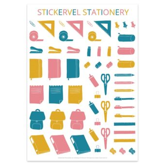 Stickervel Stationery van Nouk-san