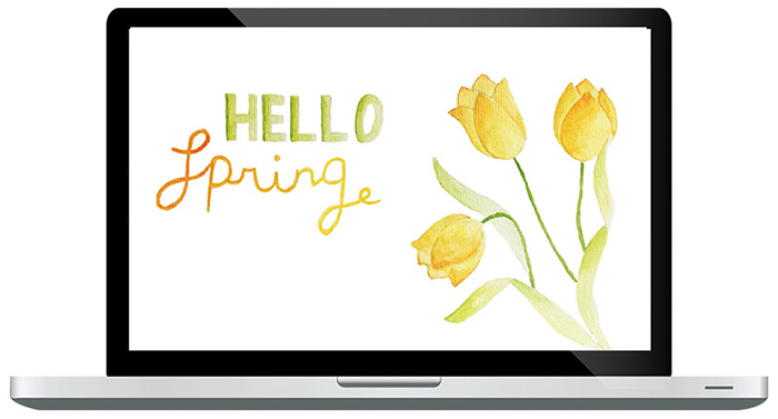 Wallpaper Hello Spring
