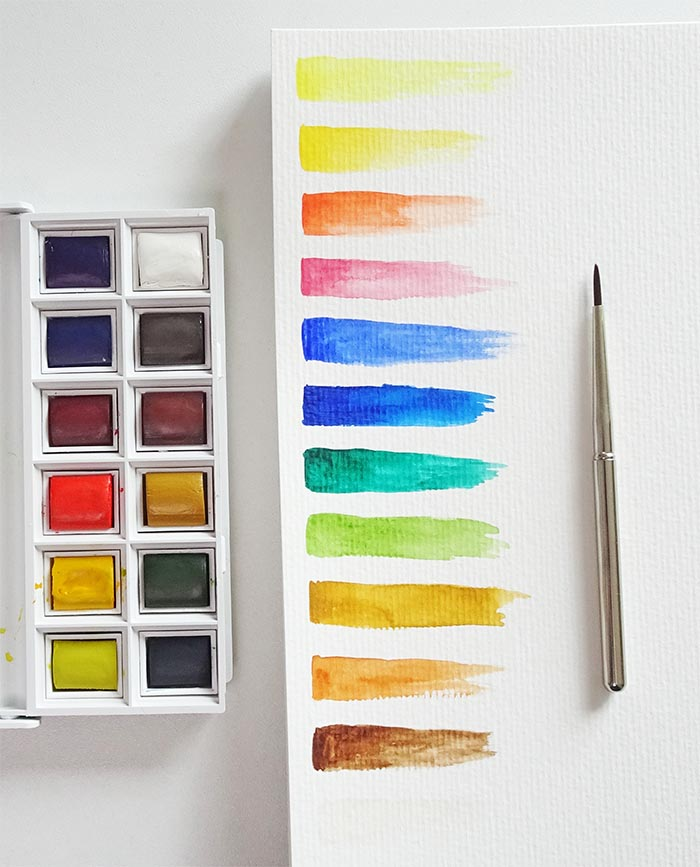 Winsor & Newton swatches
